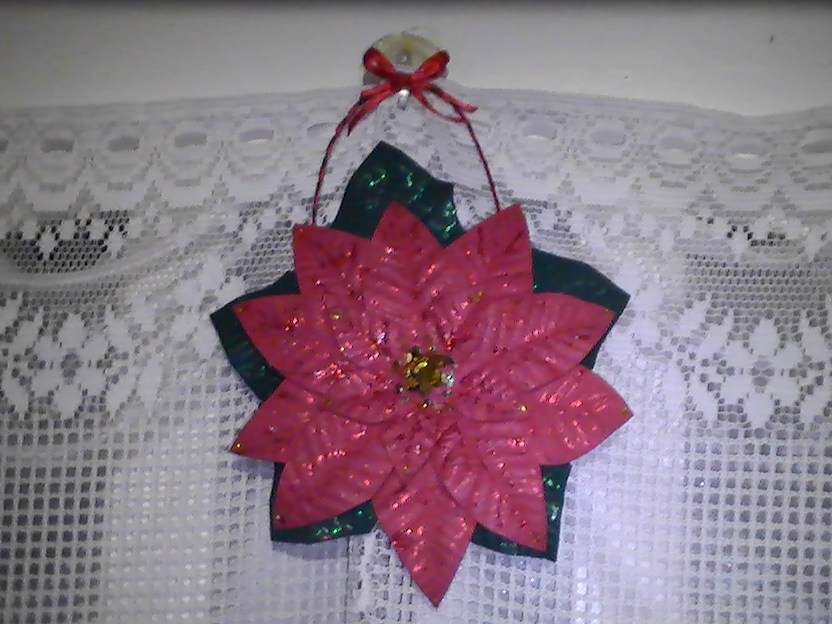 Como hacer la Flor de navidad, o estrella federal en goma eva ...