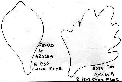 Adorno con Azaleas en Goma Eva. | →Flores En Goma Eva : Libro ...