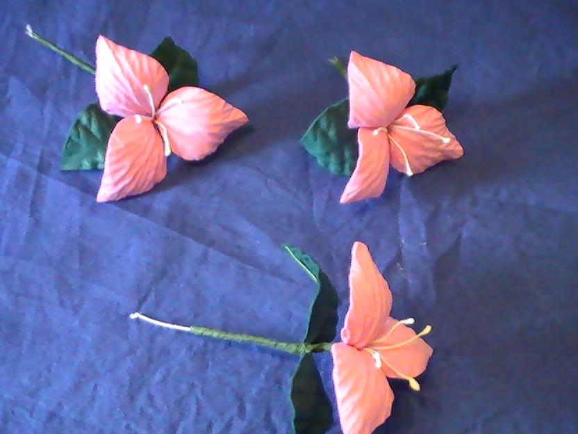 Como hago la flor santa rita en goma eva flores en - Flor de goma eva ...